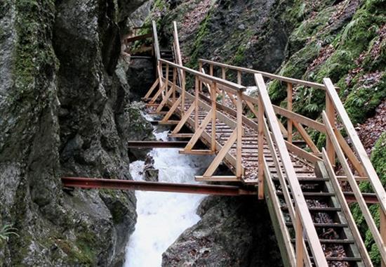 Hohe Wand a soutěska Steinwandklamm - Rakousko